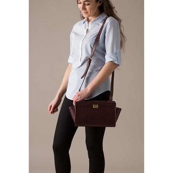 Pure 'Valentina' cross London Brown leather bag Luxuries Italian inspired body ACqrAw