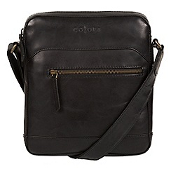 Pure Luxuries London - Black 'Anzio' Italian-inspired leather despatch bag