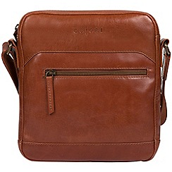 Pure Luxuries London - Chestnut 'Anzio' italian-inspired leather dispatch bag