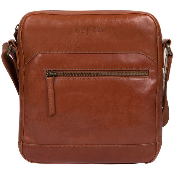 italian London inspired Pure dispatch bag Luxuries 'Anzio' leather Chestnut I4qwx15wA