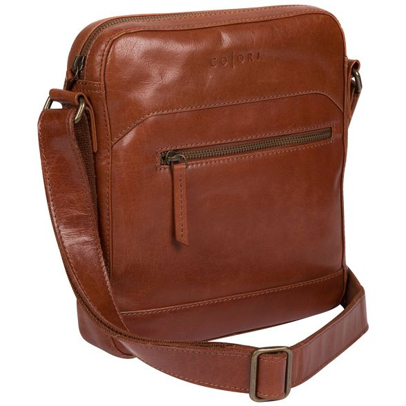 bag inspired Chestnut italian Pure London Luxuries 'Anzio' dispatch leather wqpgR81v