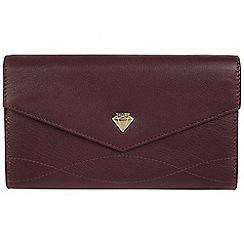 Cultured London - Beetroot 'Keston' genuine leather purse