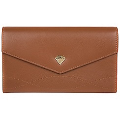 Cultured London - Tan 'Keston' genuine leather purse
