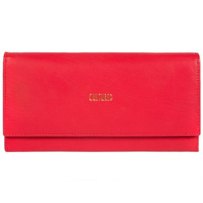 5ca445ed7b Cultured London Red  Taylor  fine leather RFID purse