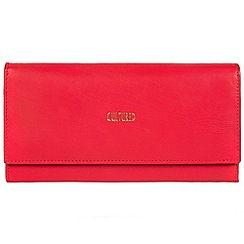 Cultured London - Red 'Taylor' fine leather RFID purse