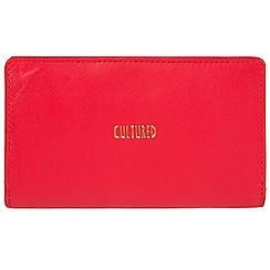 Cultured London - Red 'Kelly' soft leather RFID purse