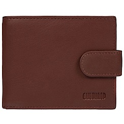 Cultured London - Conker brown 'Justin' genuine leather RFID wallet