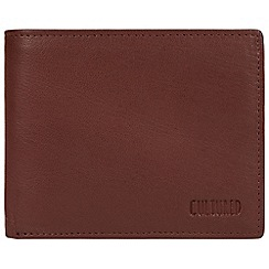 Cultured London - Conker brown 'Luke' genuine leather RFID wallet