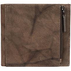 Cultured London - Vintage brown 'Wilson' bi-fold handmade leather wallet