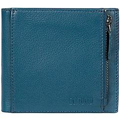 Cultured London - Teal 'Wilson' bi-fold handmade leather wallet