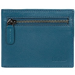 Cultured London - Teal 'Victor' leather tri-fold wallet