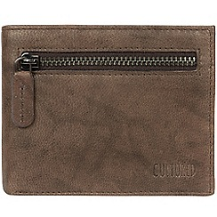 Cultured London - Vintage brown 'Victor' leather tri-fold wallet