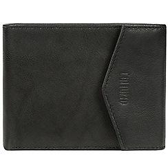 Cultured London - Vintage black 'Doyle' leather bi-fold wallet