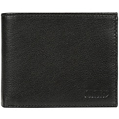 Cultured London - Black 'Niall' leather tri-fold wallet