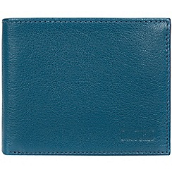 Cultured London - Teal 'Niall' leather tri-fold wallet