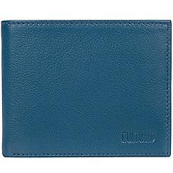 Cultured London - Teal 'Fabian' leather bi-fold wallet