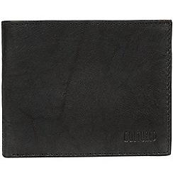 Cultured London - Vintage black 'Fabian' leather bi-fold wallet