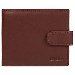 Cultured London - Conker brown 'Bruno' leather RFID wallet