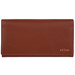 Pure Luxuries London - Cognac 'Sorrento' Italian-inspired leather RFID purse