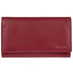 Pure Luxuries London - Red 'Perugia' Italian-inspired leather RFID tri-fold purse