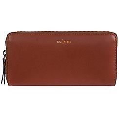 Pure Luxuries London - Cognac 'Amalfi' Italian-inspired leather RFID tri-fold purse