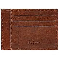 Pure Luxuries London - Cognac 'Marcello' handmade veg-tanned Italian leather wallet