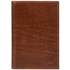 Pure Luxuries London - Cognac 'Gianni' handmade veg-tanned Italian leather wallet