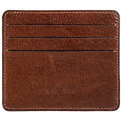 Pure Luxuries London - Cognac 'Alberto' handmade veg-tanned Italian leather card carrier