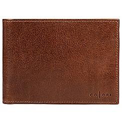 Pure Luxuries London - Cognac 'Ugo' handmade veg-tanned Italian leather wallet