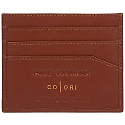 Pure Luxuries London - Cognac 'Trento' fine leather RFID card holder