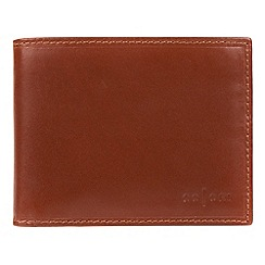 Pure Luxuries London - Cognac 'Palermo' Italian-inspired fine leather RFID wallet