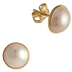 Pure Luxuries London - Gift packaged 'Mereana' cabochon river pearl earrings
