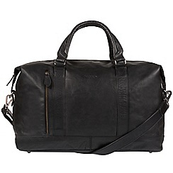 Conkca London - Black 'Duran' Handcrafted Leather holdall
