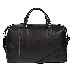 Conkca London - Black 'Duran' Buffalo Leather Holdall