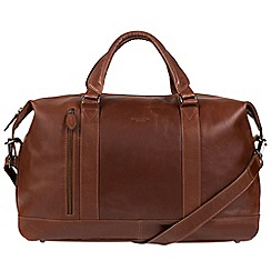 Conkca London - Conker brown 'Duran' Handcrafted Leather Holdall
