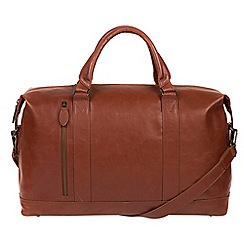Conkca London - Conker brown 'Duran' Buffalo Leather Holdall