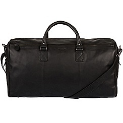 Conkca London - Black 'Norton' real leather holdall