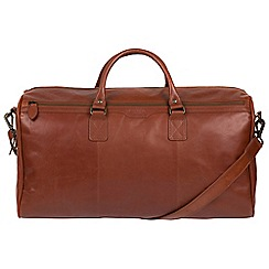 Conkca London - Conker brown 'Norton' Buffalo Leather Holdall