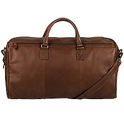 Conkca London - Dark brown 'Norton' real leather holdall