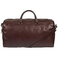 Conkca London - Dark brown 'Norton' Buffalo Leather Holdall