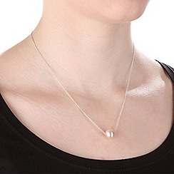 Pure Luxuries London - Gift boxed 'Lee' 10-11mm pink cultured freshwater pearl necklace