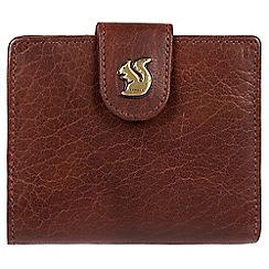 Conkca London - Brown 'Nova' handcrafted leather RFID purse