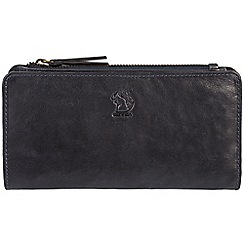 Conkca London - Navy 'Misty' handcrafted leather RFID purse