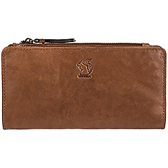 Conkca London - Tan 'Misty' handcrafted leather RFID purse