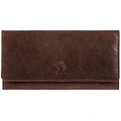 Conkca London - Conker brown 'Rhona' cowhide RFID purse