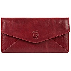 Conkca London - Red 'Talisha' leather tri-fold RFID purse