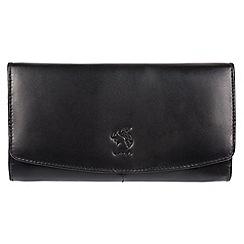 Conkca London - Black 'Johansson' genuine leather RFID purse