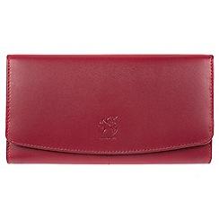Conkca London - Red 'Johansson' genuine leather RFID purse