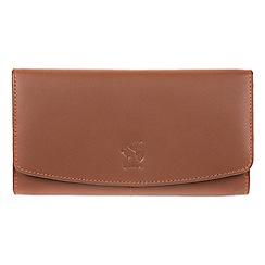 Conkca London - Tan 'Johansson' genuine leather RFID purse