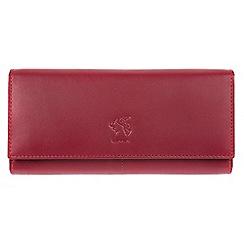 Conkca London - Red 'Hepburn' genuine leather RFID purse